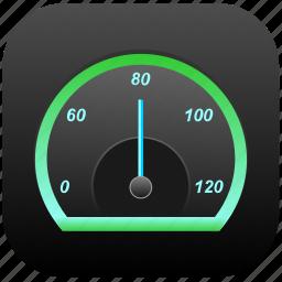 car, lighting, night, rapid, speedometer icon