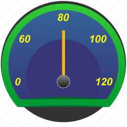 auto, car, rapid, speedometer icon