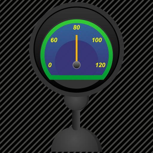car, rapid, speed, speedometer, stand icon