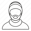 background, guy, hat, line, man, outline, rastafarian icon