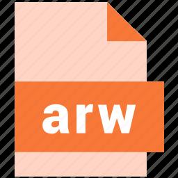 arw, raster image file format icon