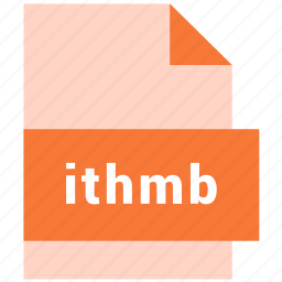 extension, file, format, hovytech, ithmb, raster, raster image file format icon