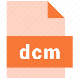 dcm, document, file, format, raster image file format, type icon
