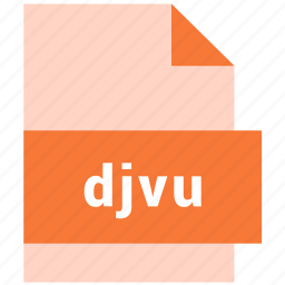 djvu, document, file, format, raster image file format, text icon