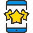 feedback, mobile, phone, rate, rating, star, vote icon