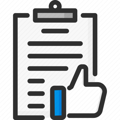 clipboard, feedback, like, rating, thumb, up, vote icon