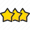 feedback, like, rate, rating, star, stars icon