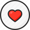 circle, feedback, heart, like, love, rate, rating icon