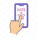 app, application, feedback, ranking, rate, rating, smartphone icon
