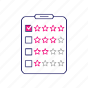 feedback, quality, ranking, rating, review, star, survey icon