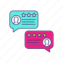 chat, chatting, feedback, message, ranking, rating, speech bubble icon