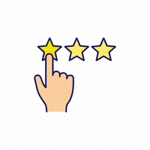 feedback, ranking, rate, rating, review, star, three icon