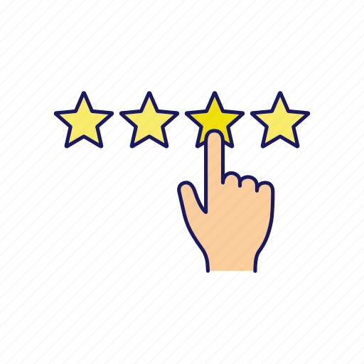 feedback, four, ranking, rate, rating, review, star icon