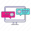 comment, feedback, quality, ranking, rate, rating, review icon