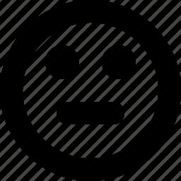 face, fine, kinda sad, neutral, normal, ok icon