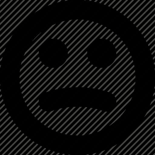 bad, face, ok, sad, unhappy, unsatisfied icon