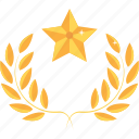 achievement, award, gold, medal, prize, reward, star icon