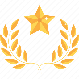achievement, award, gold, medal, prize, reward, star icon