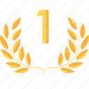 achievement, award, first, prize, rank, reward, winner icon