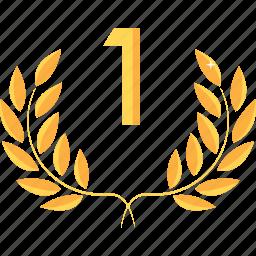 achievement, award, first, prize, rank, reward, winner icon