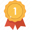accolade, award, best, gold, prize, reward, upgrade icon