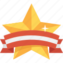 award, best, gold, reward, star, streamer, upgrade icon