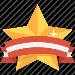 award, best, gold, reward, star, streamer, upgrade icon