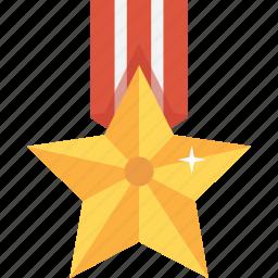 accolade, award, gold, medal, star, trophy, upgrade icon