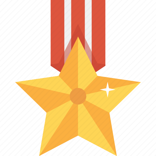 accolade, award, gold, medal, star, trophy, upgrade icon