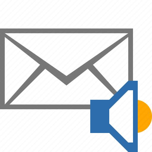 audio, envelope, mail, media, multimedia, music, sound icon