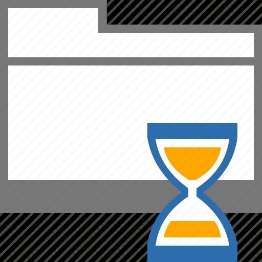 catalog, clock, drafts, folder, mail, sand, time icon