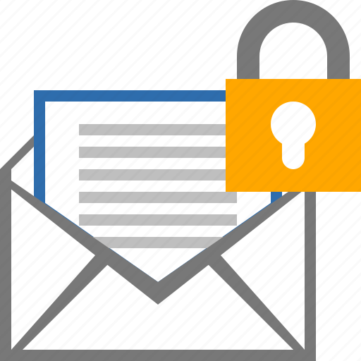 email, envelope, lock, mail, message, password, security icon