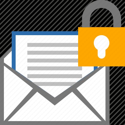 lock, mail, message, password icon