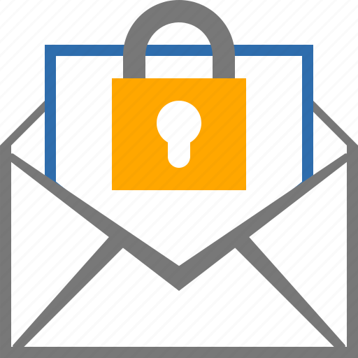 encrypted, mail, message, password icon