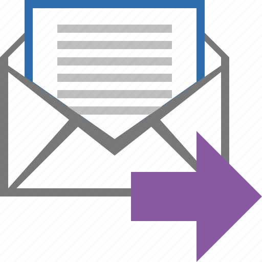 email, forward, letter, mail, message, next, send icon