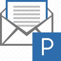 e-mail, email, envelope, letter, mail, message, parking icon
