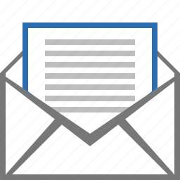 e-mail, email, envelope, letter, mail, message, read icon