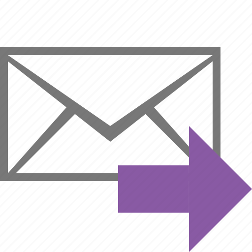 email, envelope, letter, mail, message, redirect, send icon