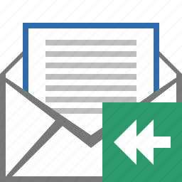 e-mail, email, envelope, letter, mail, message, replied icon