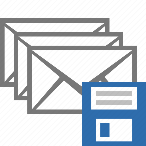 email, envelope, floppy, letter, mail, message, save icon
