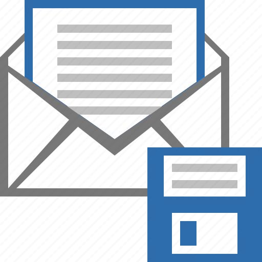 email, floppy, guardar, letter, mail, message, save, save as icon