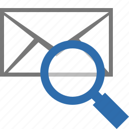 email, envelope, find, mail, message, search, view icon