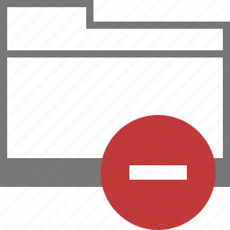 block, catalog, directory, folder, mail, spam, stop icon
