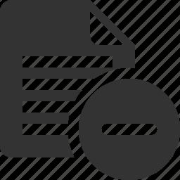 block, delete, document, file, page, remove, spam icon