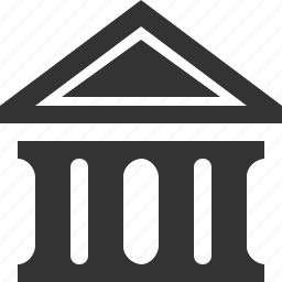 bank, banking, building, courthouse, finance, government, office icon