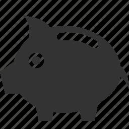 bank, cash, coin, dollar, money, piggy, safe icon