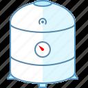 heating, plumbing, tank icon