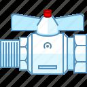 damper, fitting, heating, plumbing, stopcock, tap, valve icon