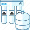 filter, osmosis, sink, system, under, water icon