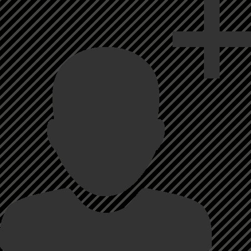account, add, avatar, new, person, profile, user icon